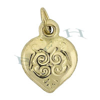 Gold-Filled Heart Charms 28664-GF