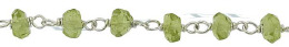 Pigtail Sterling Chain 4mm Peridot Beads 28777-Ss