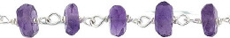 Pigtail Ss Chain 4mm African Amethyst 28806-Ss