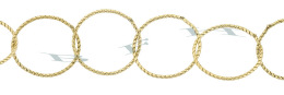 Gold-Filled Twisted Round Cable Chain 17.0mm Chain Width 28836-GF