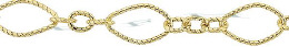 Gold-Filled Long And Short Twisted Oval Chain 3.0mm Chain Width 28840-GF