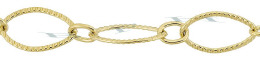 Gold-Filled Twisted Long And Short Oval Chain 7.0mm Chain Width 28850-GF