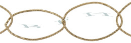 Gold-Filled Twisted Oval Chain 23.0mm Chain Width 28885-GF