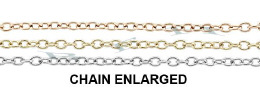 1.20mm Width 14K Round Cable Chain 29078-14K