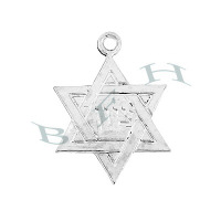 Ss Star Of David Charms 29097-Ss