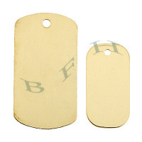 Gold-Filled Dog Tag 29101-GF