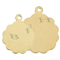 Gold-Filled Disc Charms 29104-GF