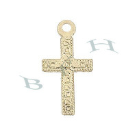 Gold-Filled Cross 15mm Charms 29137-GF