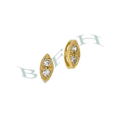 Vermeil Cubic Zirconia Marquise Connector 29214-Vm