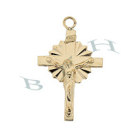 Gold-Filled Crucifix 30mm Charms 29238-GF