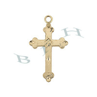 Gold-Filled Cross 27mm Charms 29298-GF