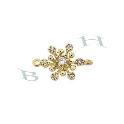 Vermeil Cubic Zirconia Snowflake Connector29394-Vm