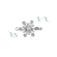 Rhodium Silver Snowflake Connector 29394-Ss