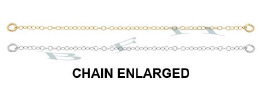 14K 1.10mm Width Cable Safety Chain 4825-14K