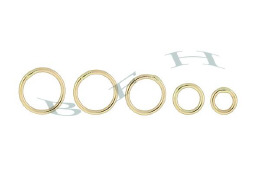 18K Solder Jumprings (Close O Ring)