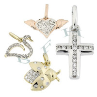 14K Diamond Charms