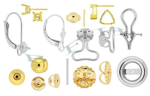 14k Earrings and Earring Findings