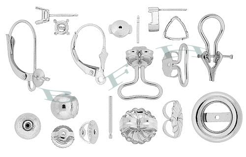 Platinum Earrings and Earring Components