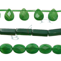 Green Agate Beads