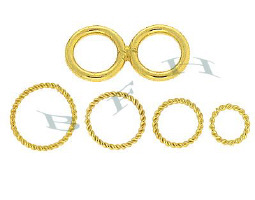 Vermeil Soldered Jumprings (Closed O Rings)