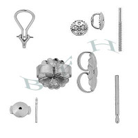 Sterling Silver Earring Earnuts And Earring Posts