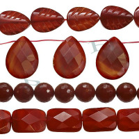 Red Agate Beads