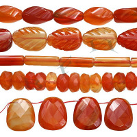 Natural Color Red Agate Beads