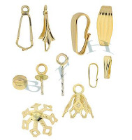 Gold-Filled Pendant Components And Pendant Drops